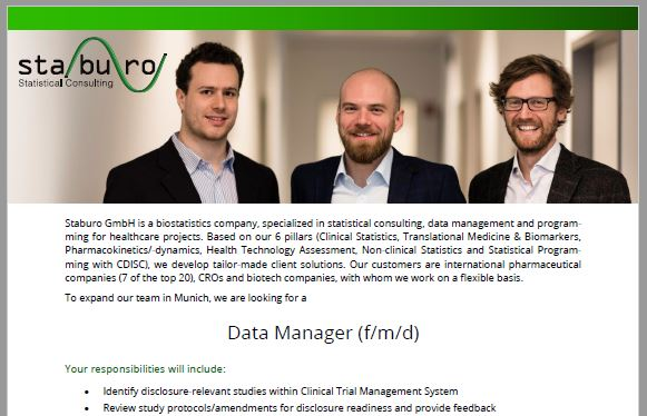 Staburo Data Manager Munich