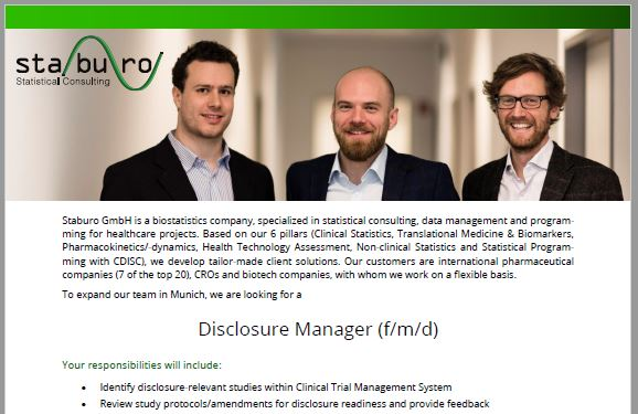 Disclosure Manager Munich