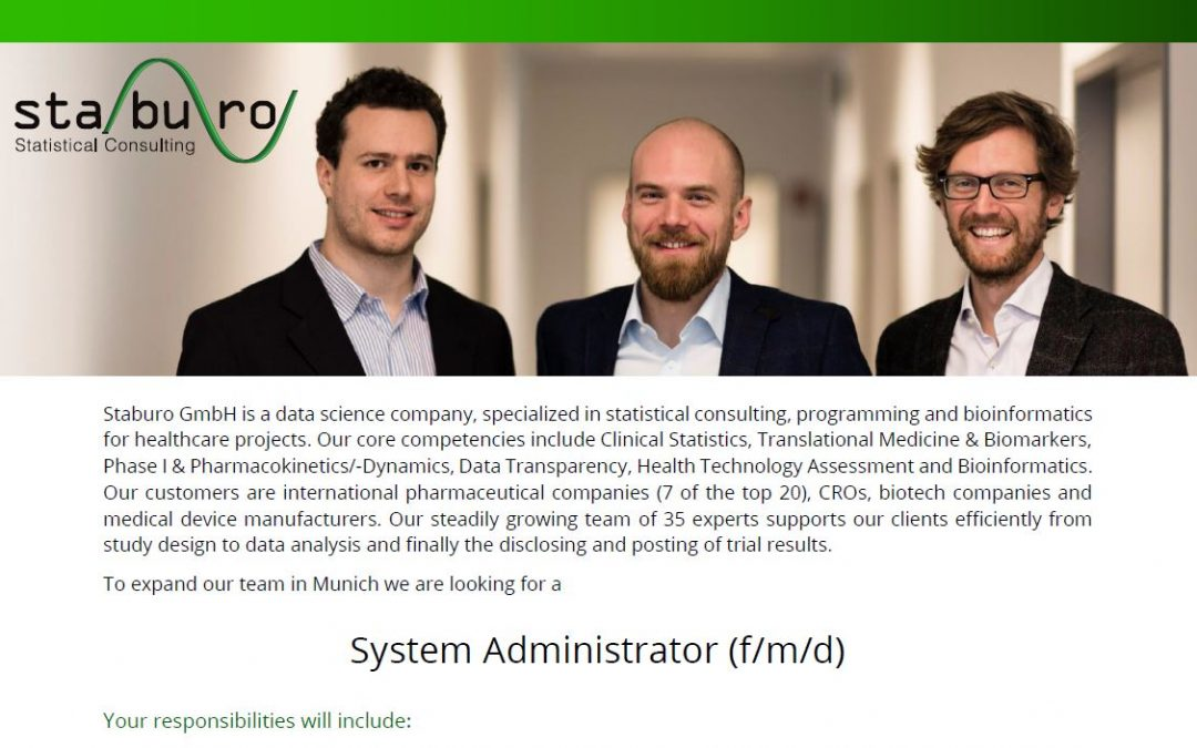 System Administrator (f/m/d)